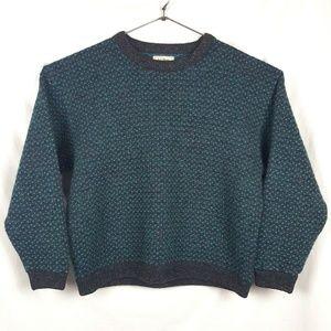 Vintage LL Bean Sweater Pullover Birds Eye Norway